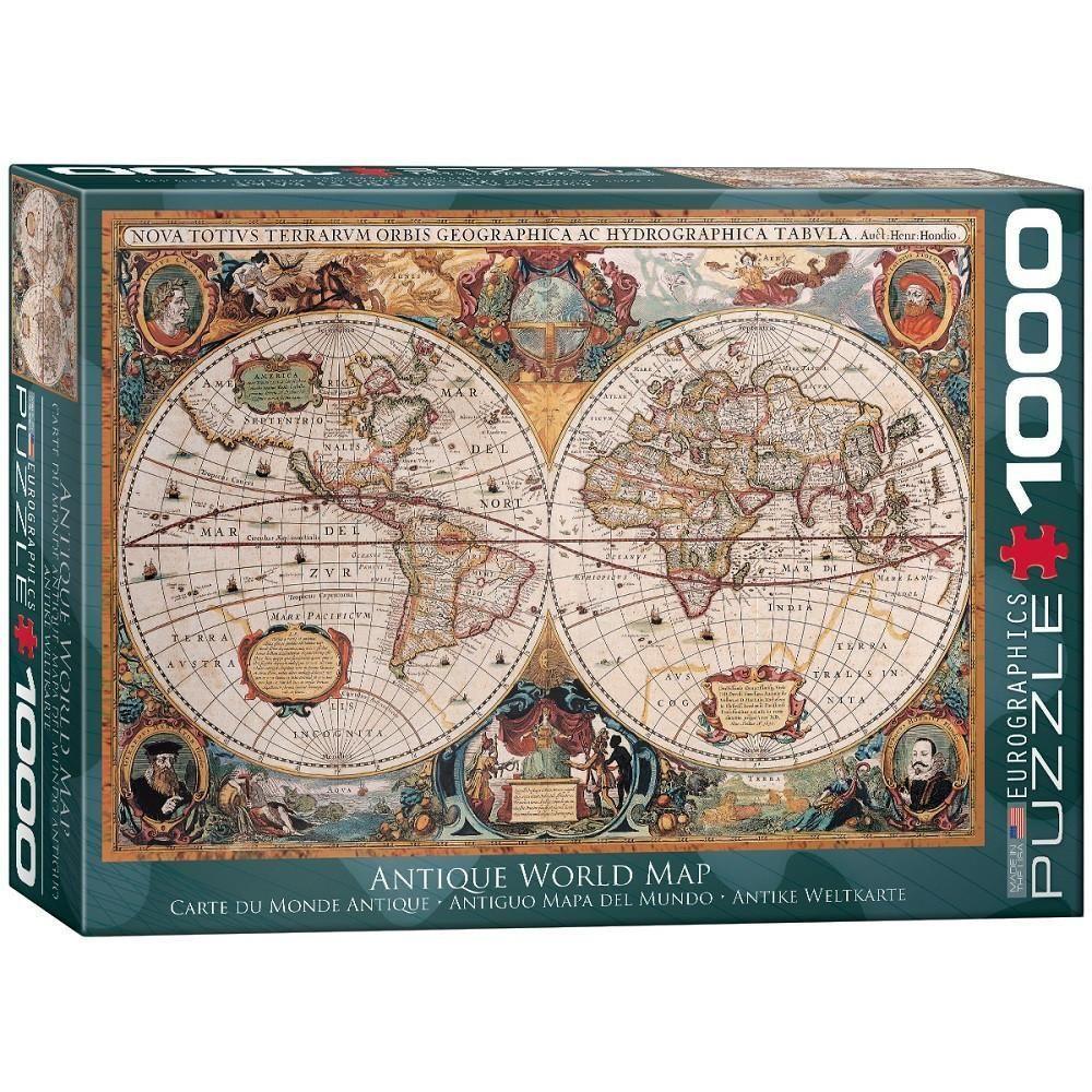 Antique world map 1000 piece jigsaw puzzle 1000 piece jigsaw antique world map 1000 piece jigsaw puzzle gumiabroncs Gallery