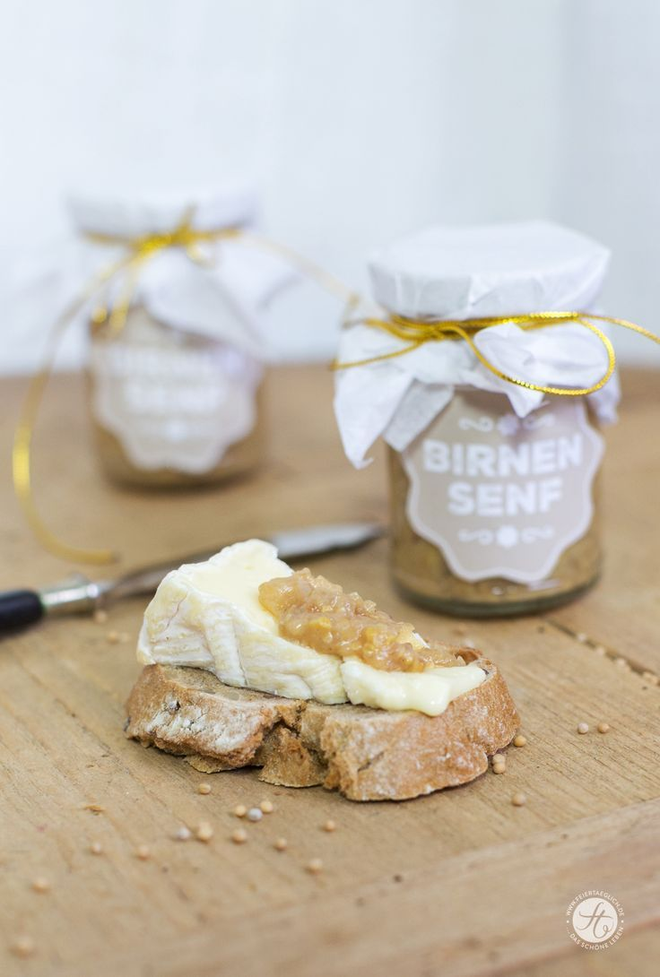 Geschenke aus der Küche: Birnensenf, scharf & süß, Freebie Printable ...