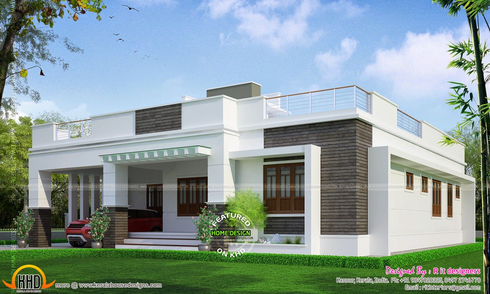 U20b910 Lakhs Budget Smallbudget Single Floor House In An Area Of 812 Square  Feet By Haris Mohammed, Kasaragod, Kerala. | House Elevation Indian Single  ...