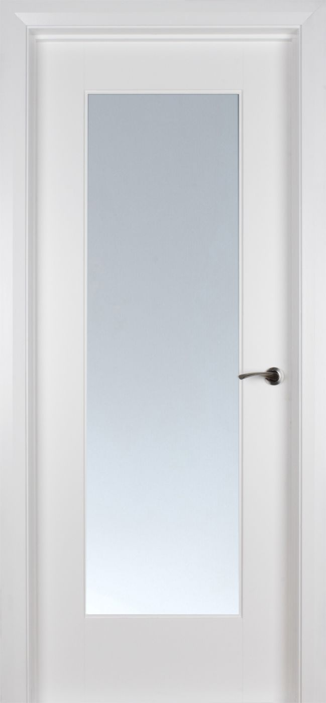 Shaker 1 Lite White Primed Pre Glazed Clear Glass 40mm Clear Glass Shaker Doors Glazed Door