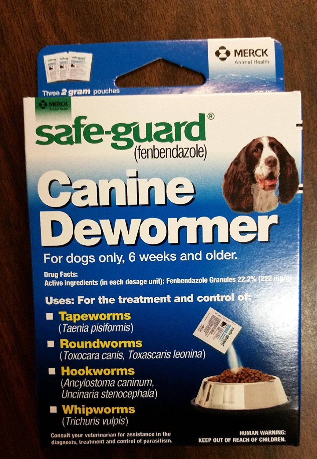 (2 Packages) 8in1 SafeGuard Canine Dewormer Three 2
