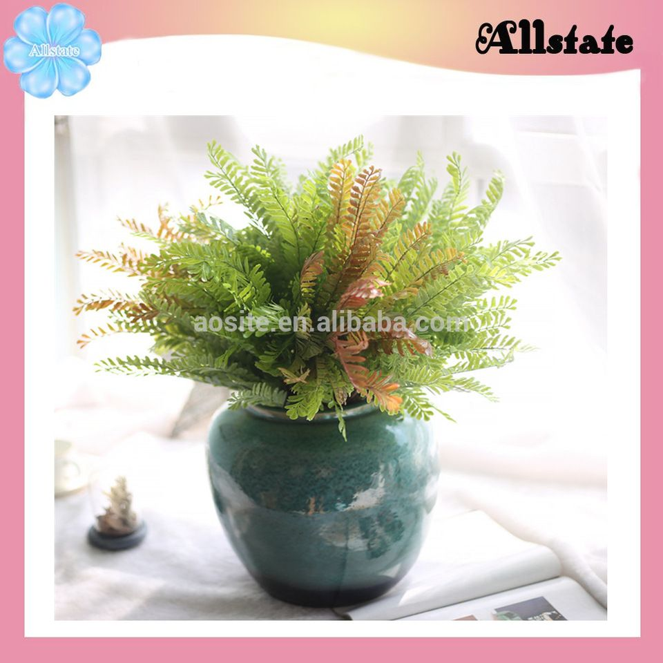 Simulation most popular silk pteris flower artificial plant for home