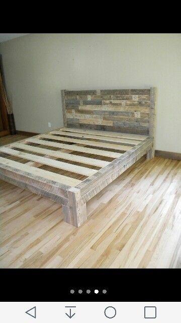 Texture To Backboard Diy Pallet Bed Diy Bed Frame Wood Bed Frame