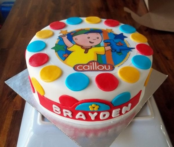 Caillou Birthday Cake Caillou Birthday Bash Pinterest Caillou
