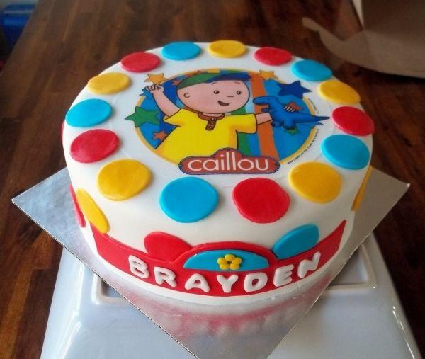 Superb Caillou Birthday Cake Cupcake Birthday Cake Cool Birthday Cakes Funny Birthday Cards Online Alyptdamsfinfo