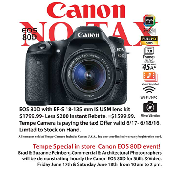 Meet Brad Feinberg at Tempe Camera Friday June 17 from 10-2 and on ...