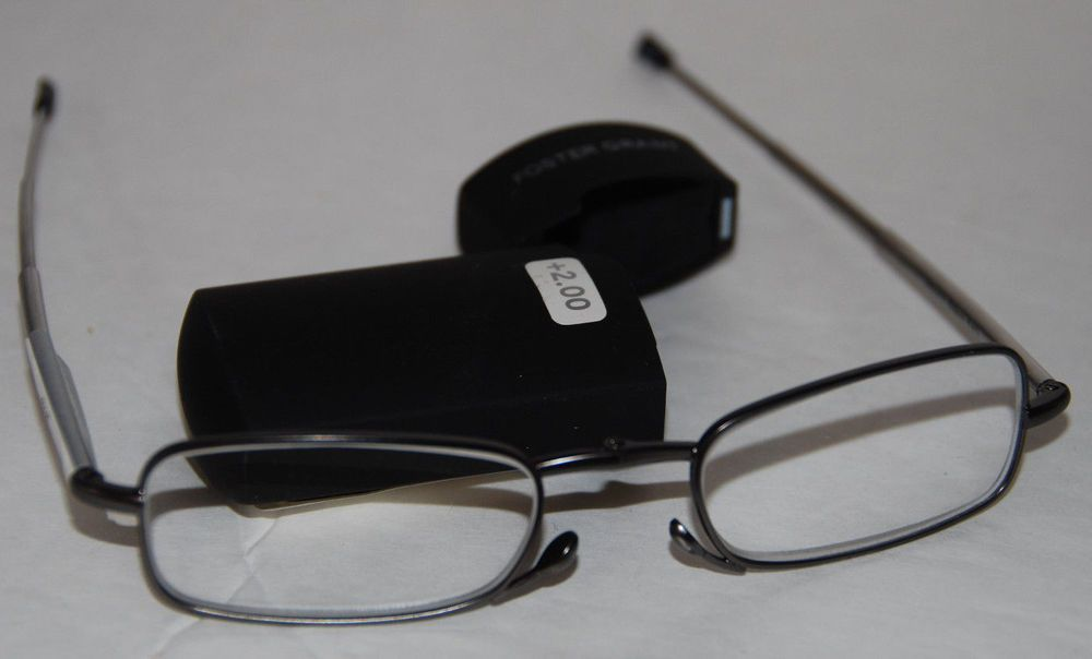 foster grant microvision folding reader reading glasses