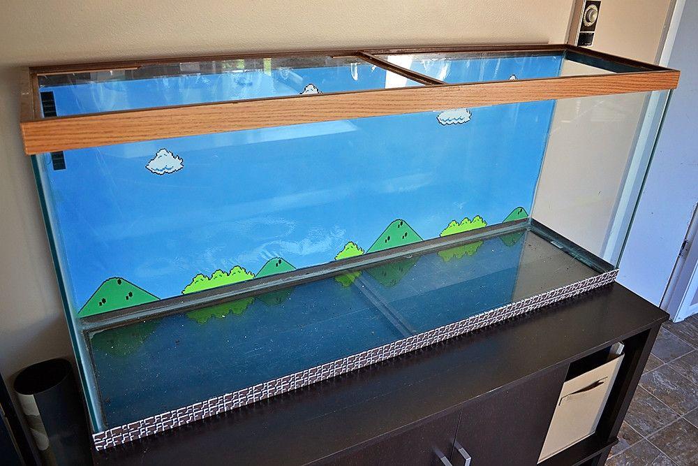 Mario Aquarium Super Mario Bros Mario Bros Aquarium