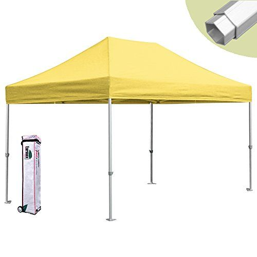 Eurmax 10 X 15 Pro Pop Up Commercial Outdoor Canopy Tent Gazebo W Wheeled Bag Yellow Read More Re Canopy Tent Canopy Outdoor