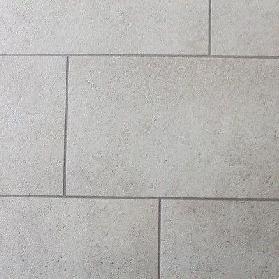 Grey And White Tile Effect Vinyl Flooring