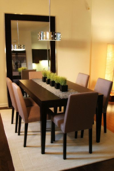 Contemporary Dining Room Centerpieces Design Pictures Remodel Decor And Idea With Images Dining Room Table Decor Formal Dining Room Table Dining Room Table Centerpieces