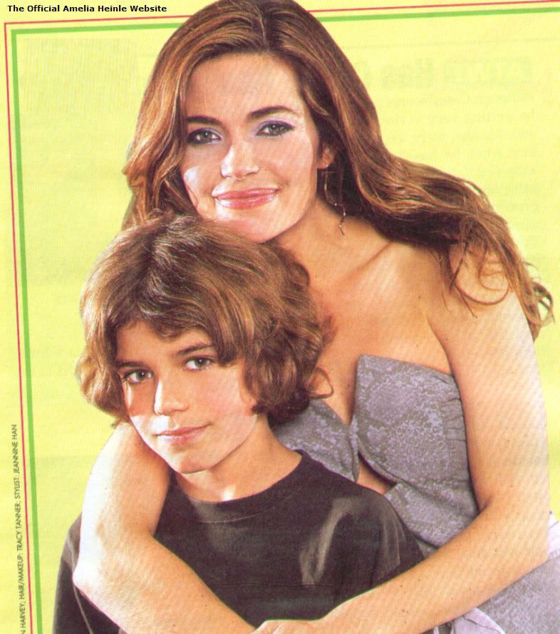 Amelia Heinle (m to Michael Weatherly from 1995-1997) with ...