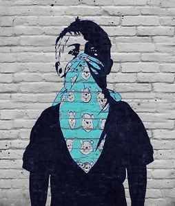 CANVAS BANKSY Graffiti Street Art Wall Decor Print winnie pooh boy 800mm