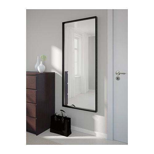 NISSEDAL Mirror, black Bedrooms, Apartments and Room