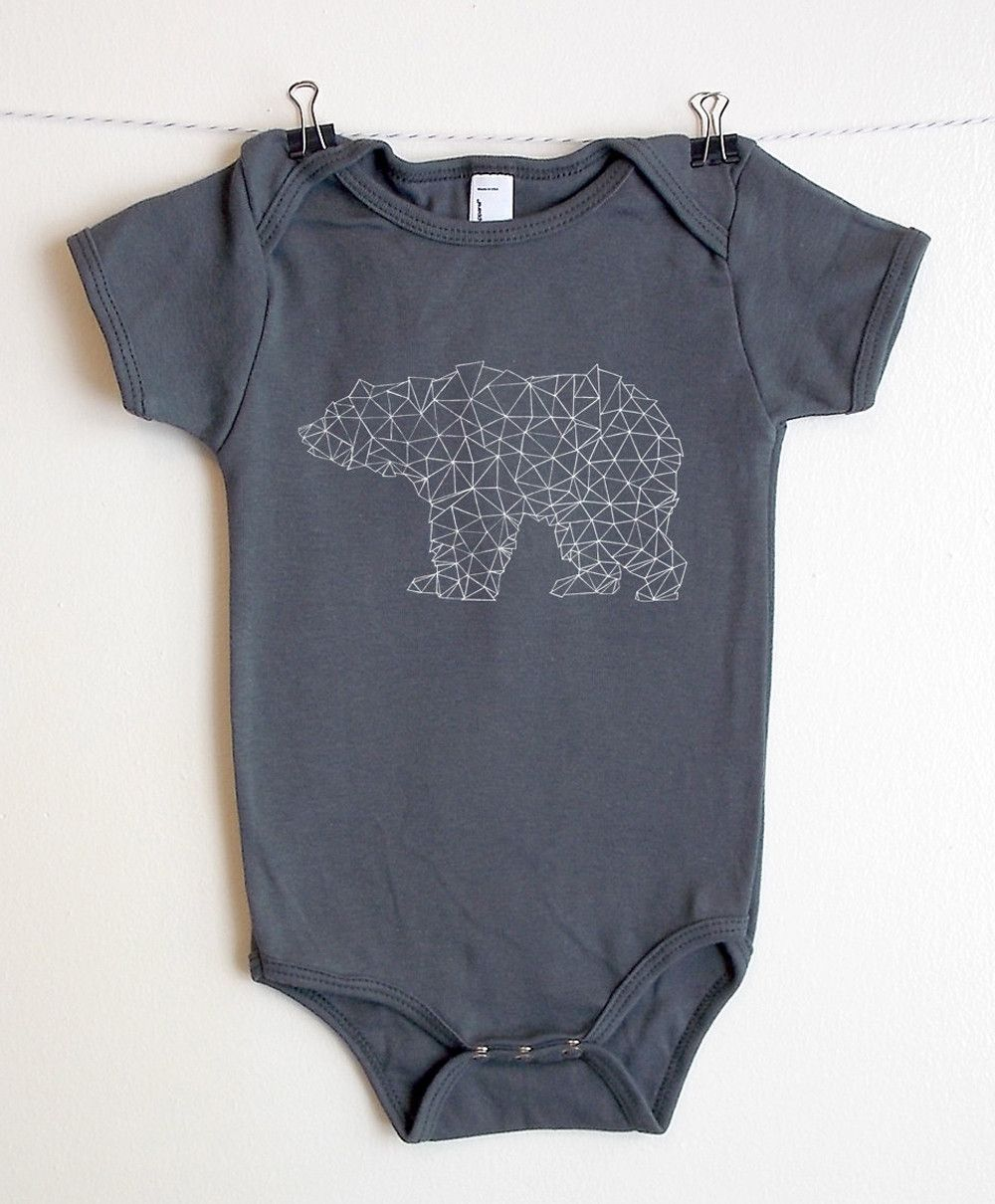 Bear Made Of Triangles American Apparel Baby Star Wars