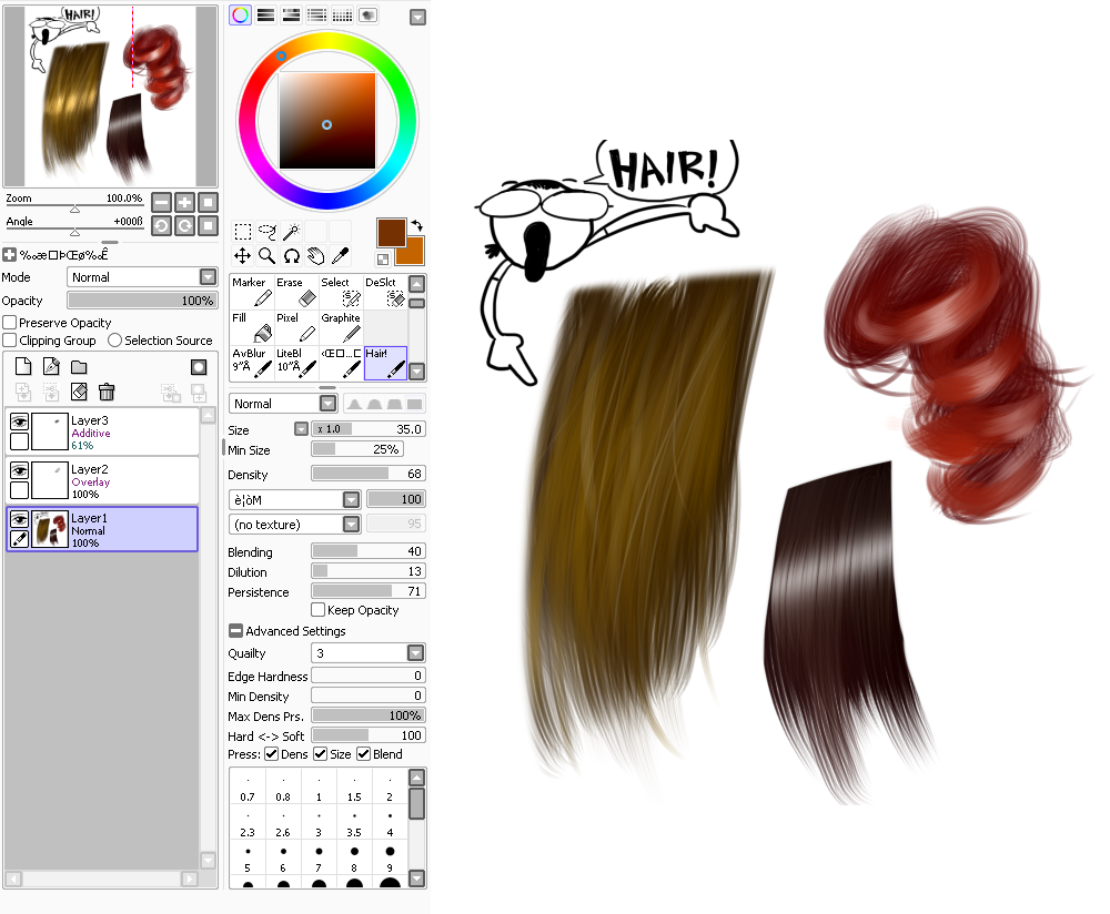 paint tool sai bristle brush Yahoo Image Search Results
