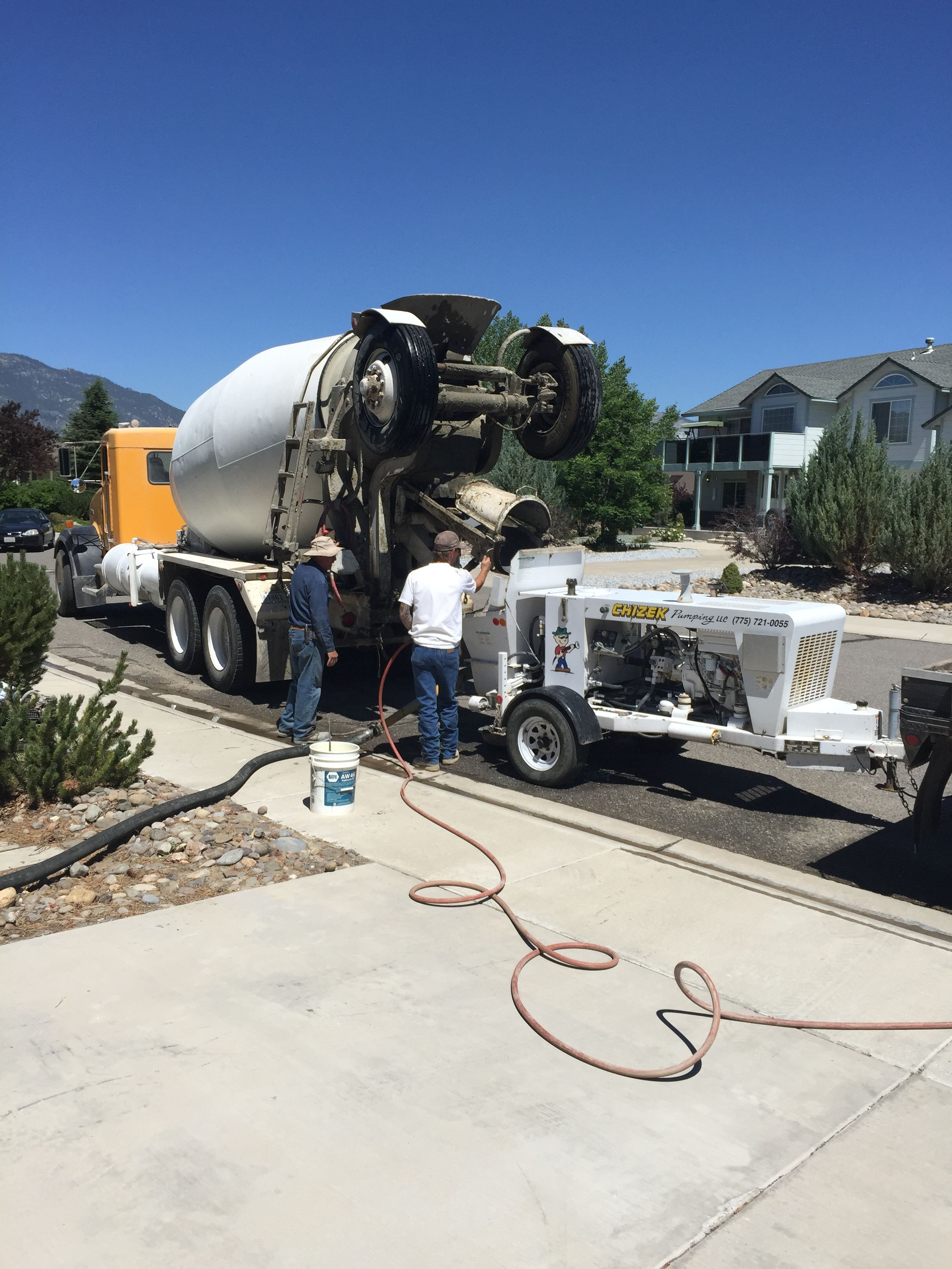 Concrete Truck And Concrete Pump For Stem Wall And Bottom Floor For House Addition Minden Nv Concrete Truck Mix Concrete Minden