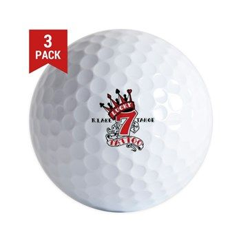 Golf Balls available online at www.cafepress.com/lucky7tattooandpiercing