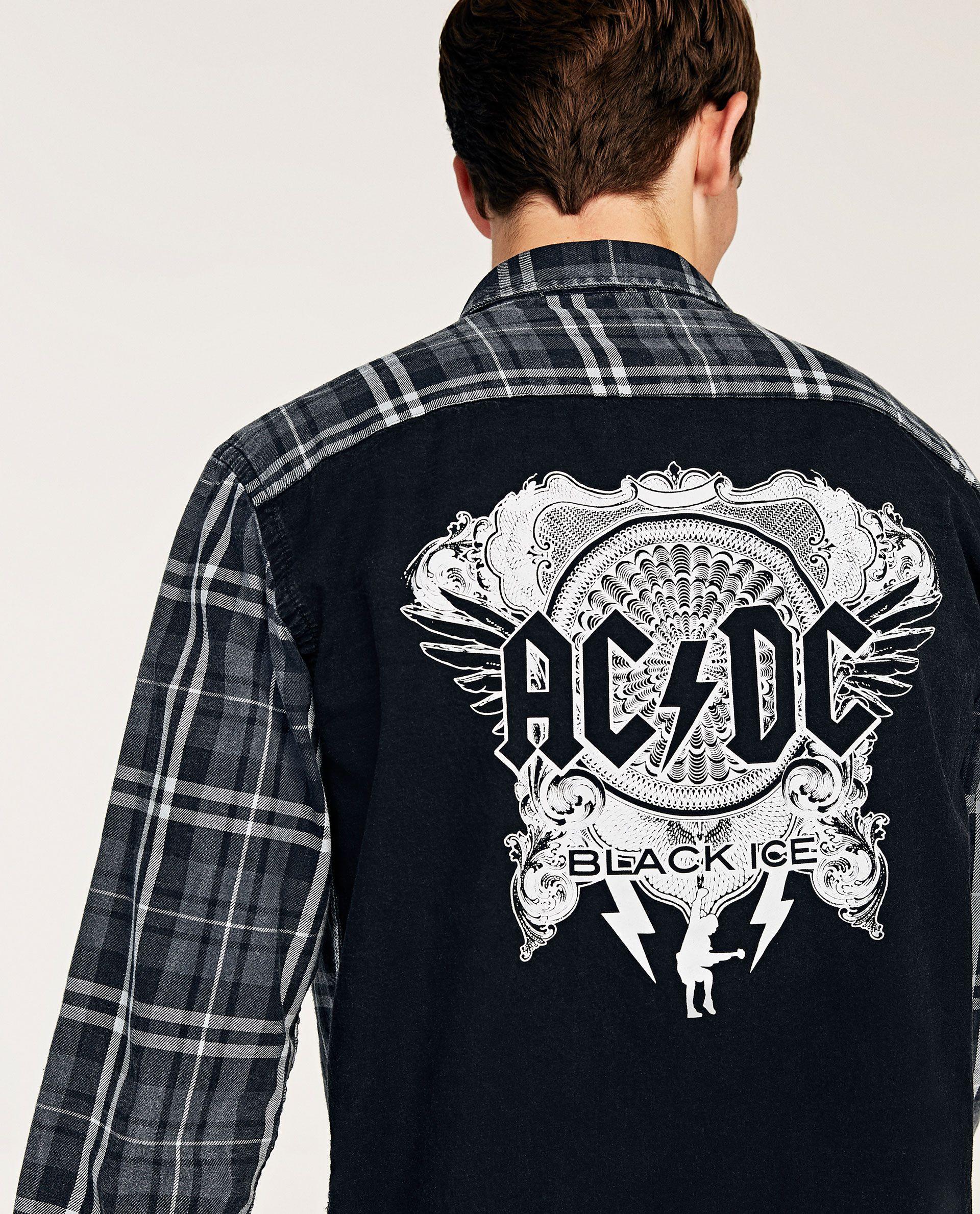 347e7b75c AC/DC' SHIRT | WAVEZONE SS18 | Shirts, Mens tops, Zara
