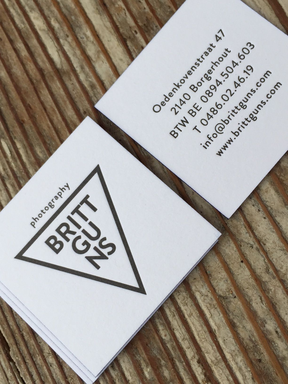 business cards britt guns proudly printed by