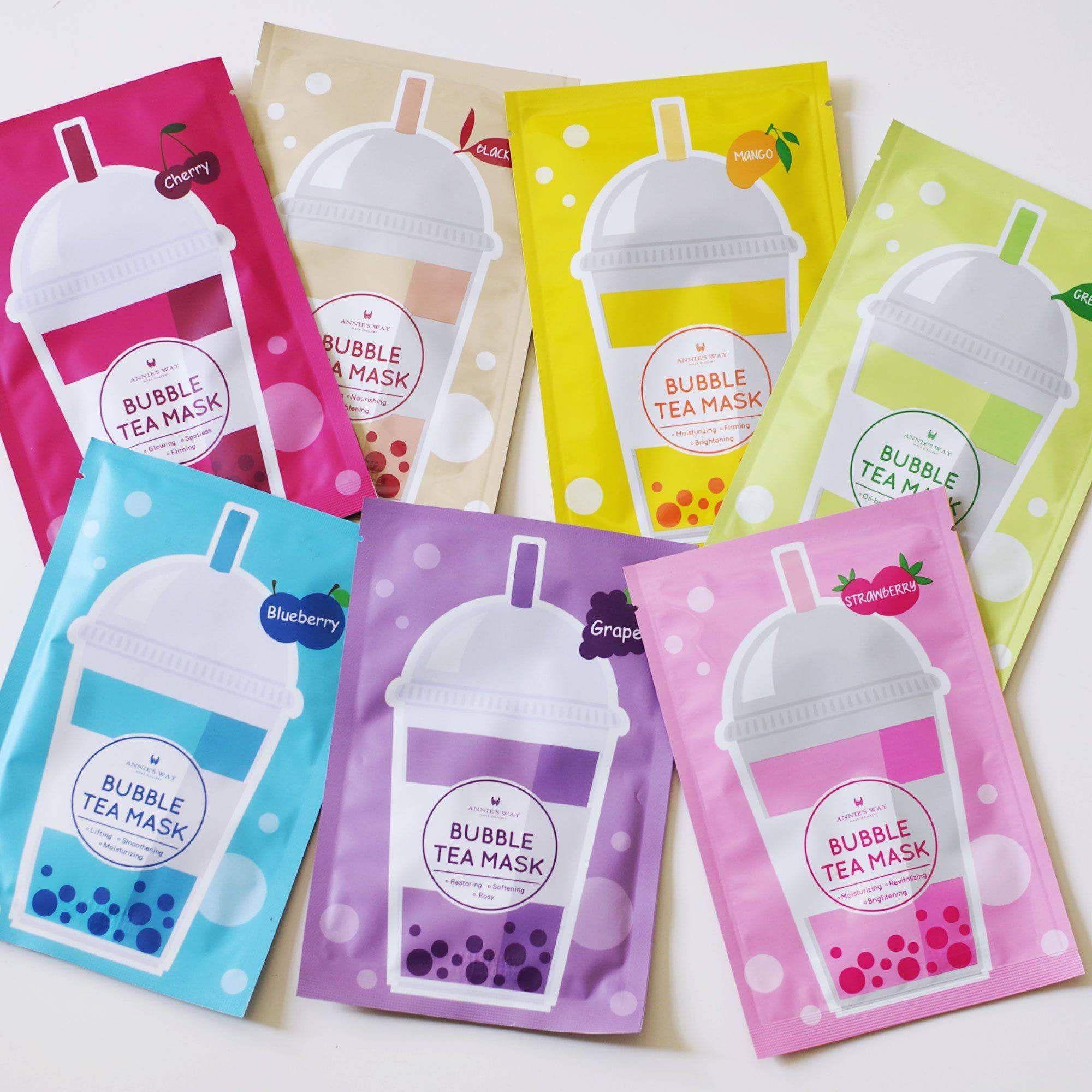 Photo of Annie's Way Bubble Tea Sheet Mask Sampler Set