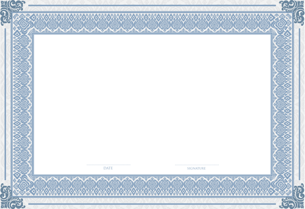 Empty Certificate Template Png Clip Art Image  Frames And Borders