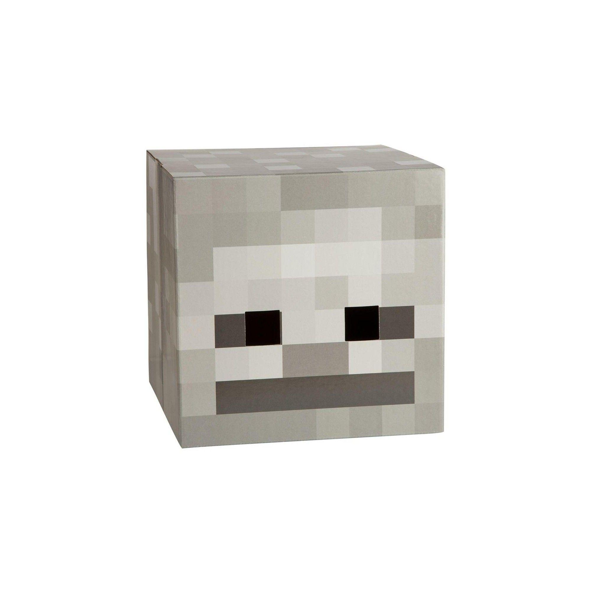 Jinx Inc Minecraft 12 Skeleton Head Costume Mask Skeleton Head Costume Mask Gold Armor