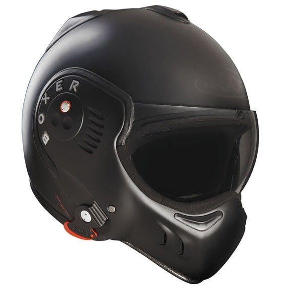 Roof V8 Boxer Helmet Full Black 275 Helmet Motorcycle Helmets Black Helmet