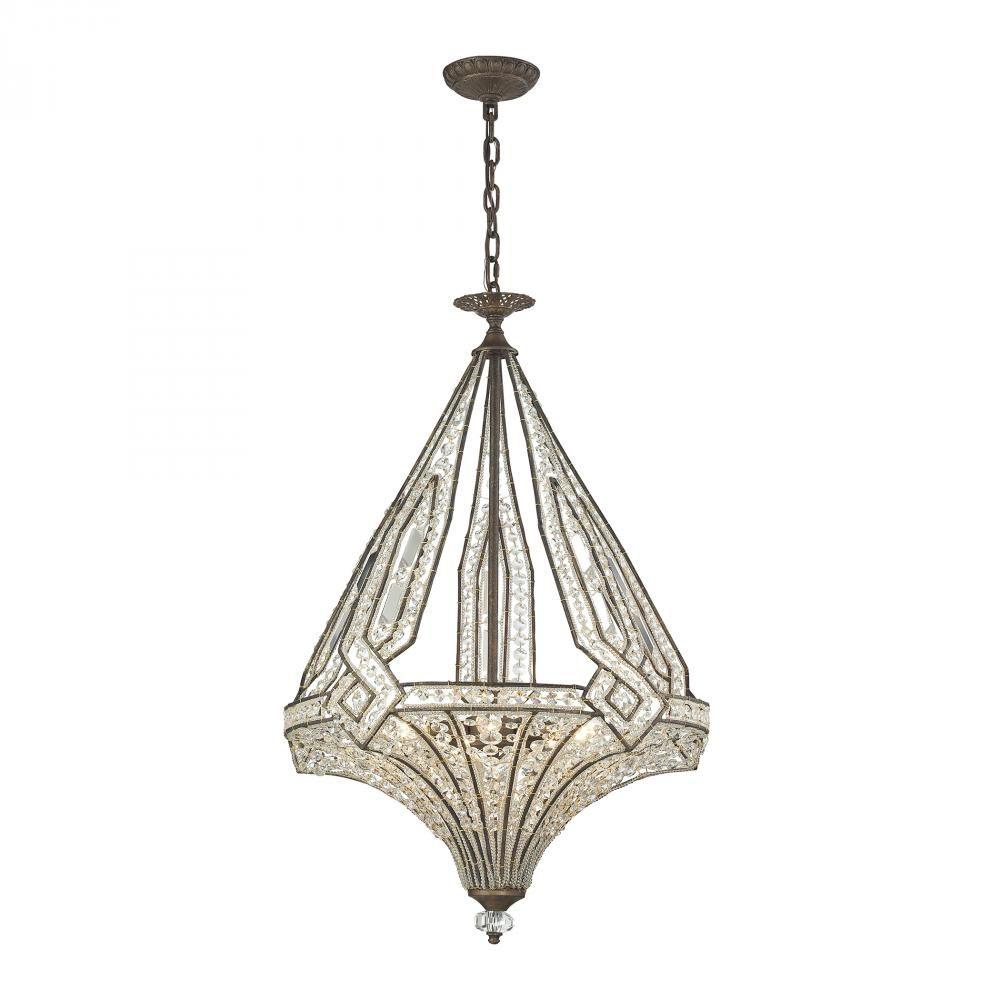 Jausten 5 light chandelier in antique bronze 117835 ellen jausten 5 light chandelier in antique bronze 117835 ellen lighting and hardware arubaitofo Image collections
