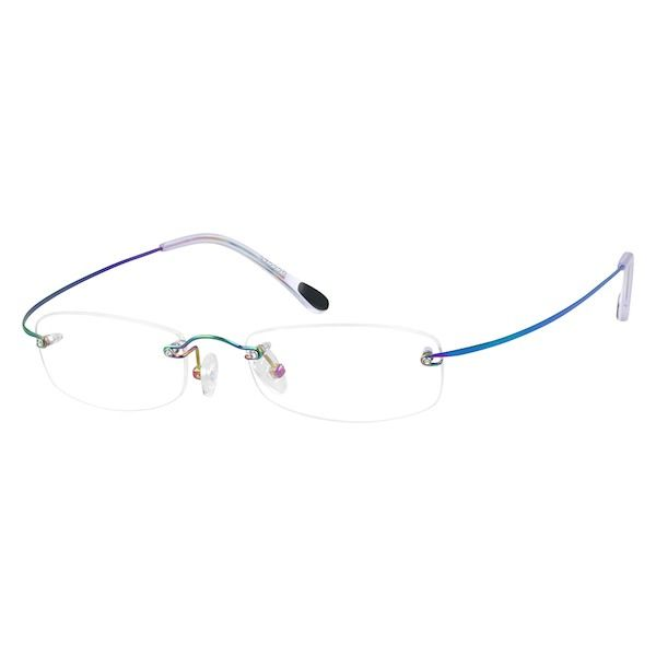 ef9fde114c0 Zenni Womens Lightweight Rimless Prescription Eyeglasses Multicolor Titanium  372229