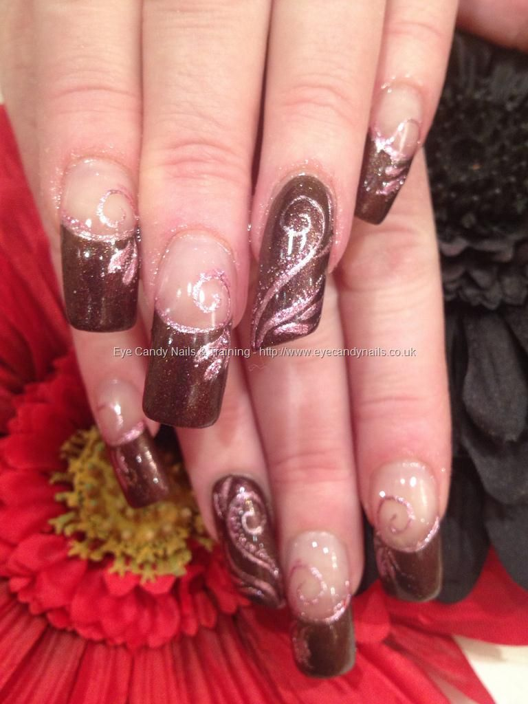 Acrylic+overlays+with+lipstick+shape+ring+finger+and+hand+painted+ ...