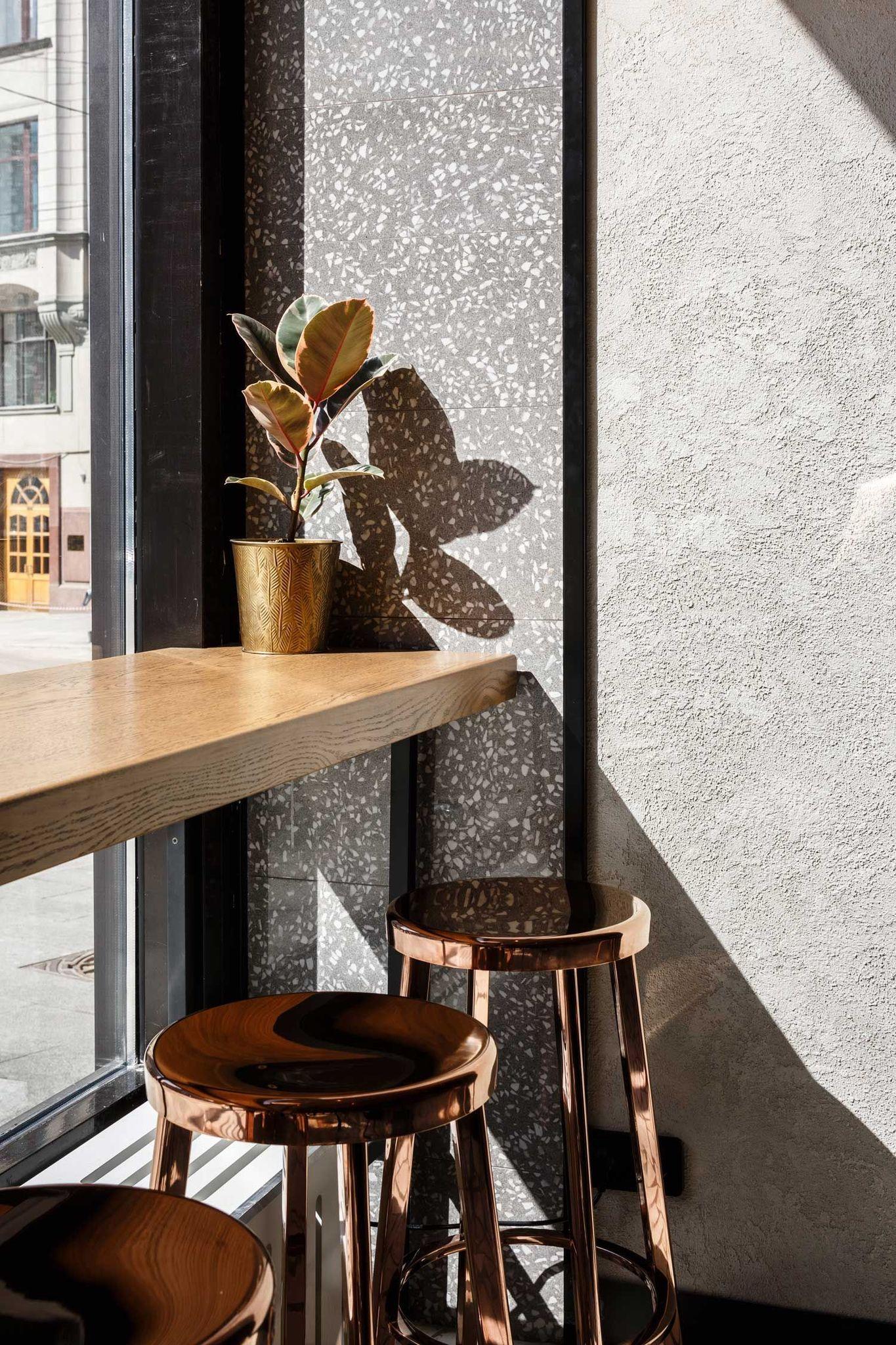 Copper Bar Stools Cafe Interior Coffee Shop Interior Design