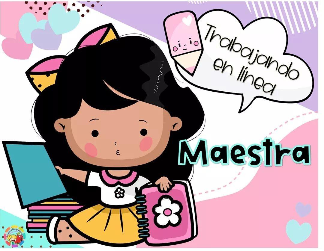 Pin De Sujahila Martinez En Bordes Imagenes De Maestras Animadas Maestras Animadas Imagenes Para Maestros