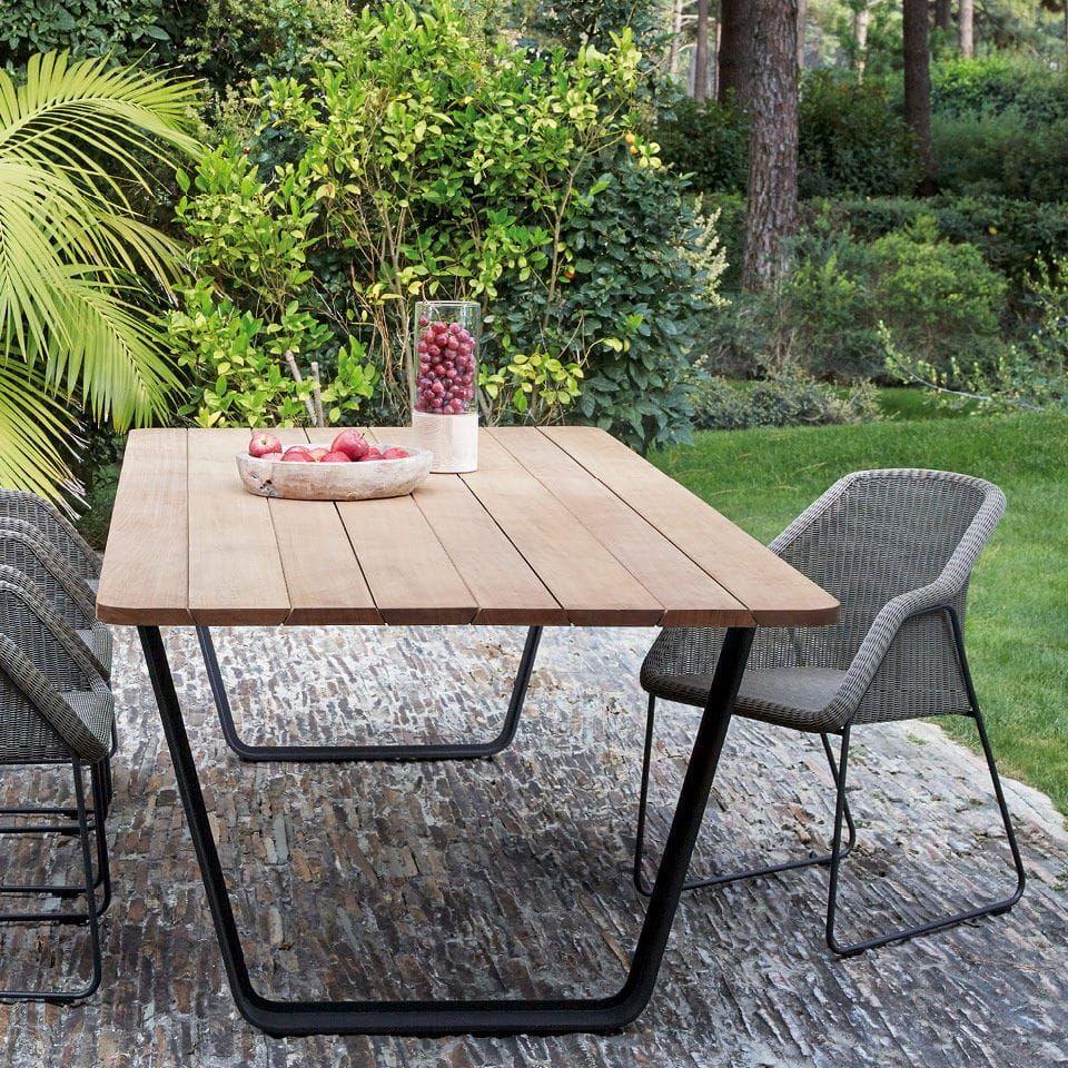 Mesa de comedor / de jardín / moderna / de cerámica - AIR ...