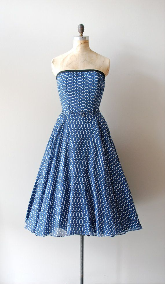 vintage 1950s Lit by Fireflies dress