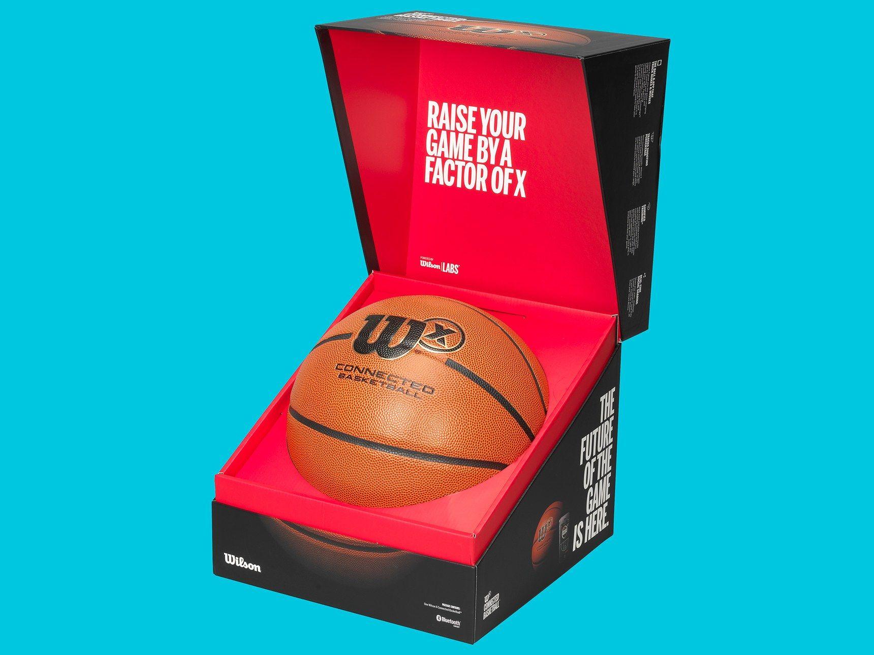 Wilson S New Smart Basketball Magically Tracks Your Stats Basketball Basketball App Brand Packaging