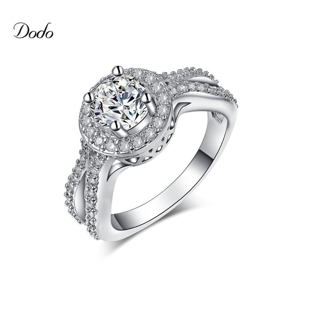 Ring Silver Color Jewelry Infinity Wedding