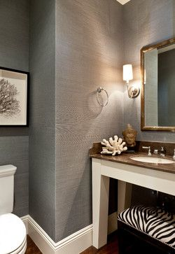 Genial Seagrass Wallpaper  John Street Project   Traditional   Bathroom   Los  Angeles   Caroline Burke Designs U0026 Associates, Inc.