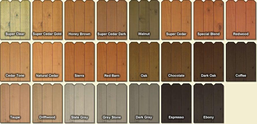 Fence And Deck Stain Colors