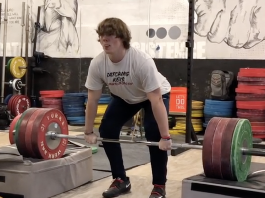 Morgan McCullough Block Cleans an Epic 190kg At 15 Years Old