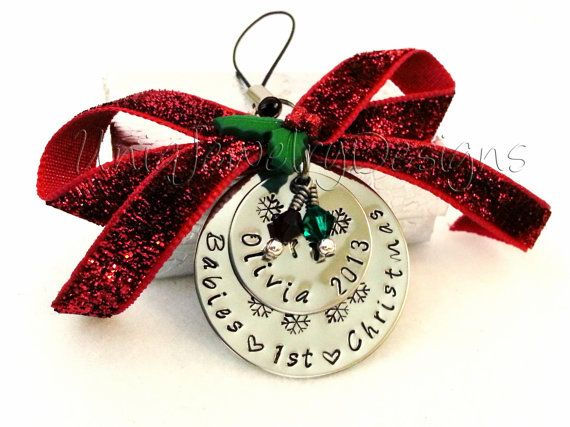 Handstamped Ornament Personalized Ornament by UniqJewelryDesigns, $35.00 #Christmas #shopping
