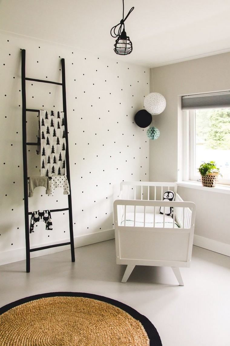 Girl and boy room in Scandinavian style for a zen atmosphere ...