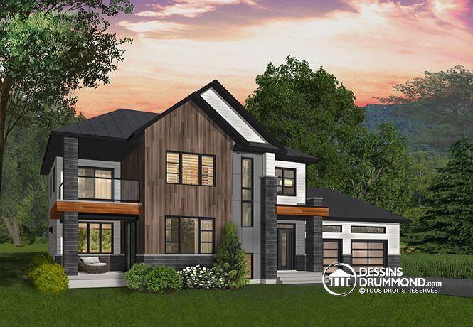 W3882 - Cottage contemporain tout en lumière, 3 terrasses habritées