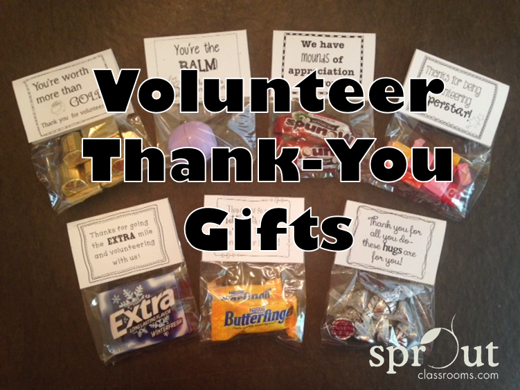 Classroom Thank You Ideas ~ Make a basket of classroom volunteer thank you gifts to