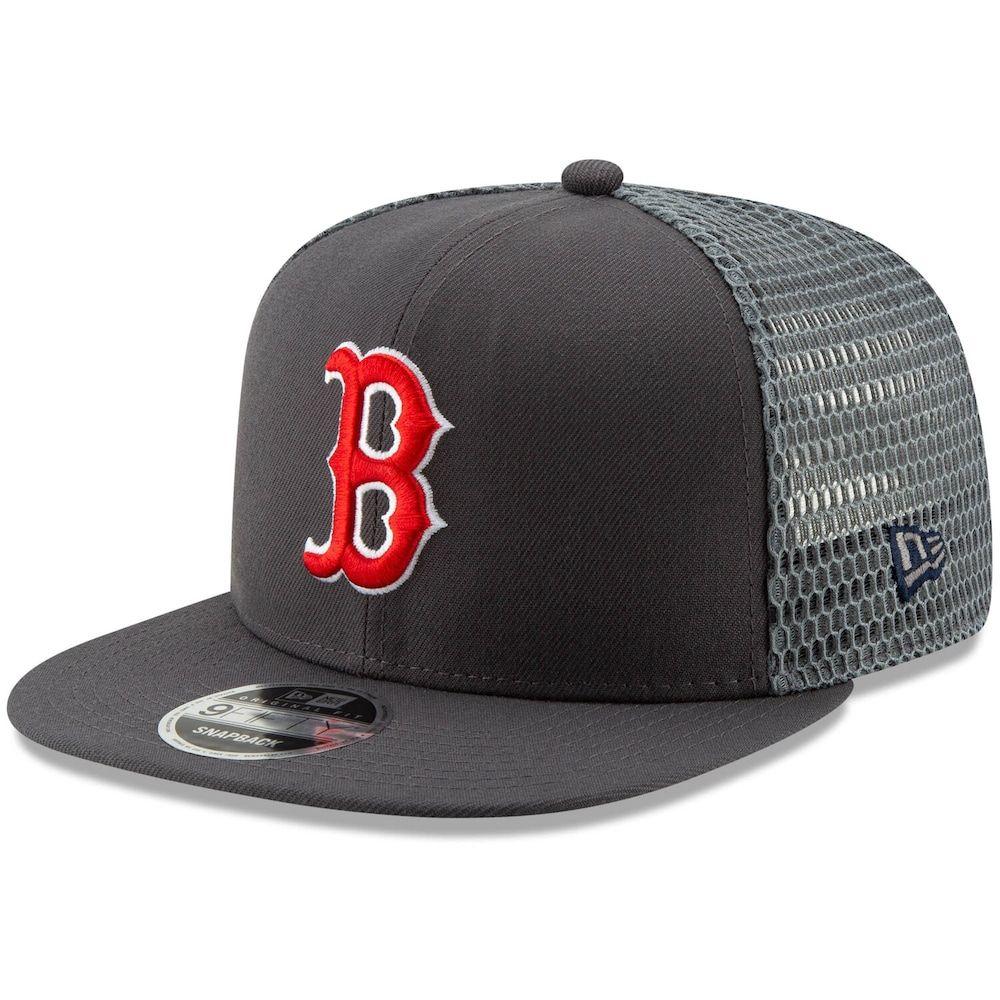 Men S New Era Graphite Boston Red Sox Mesh Fresh 9fifty Adjustable