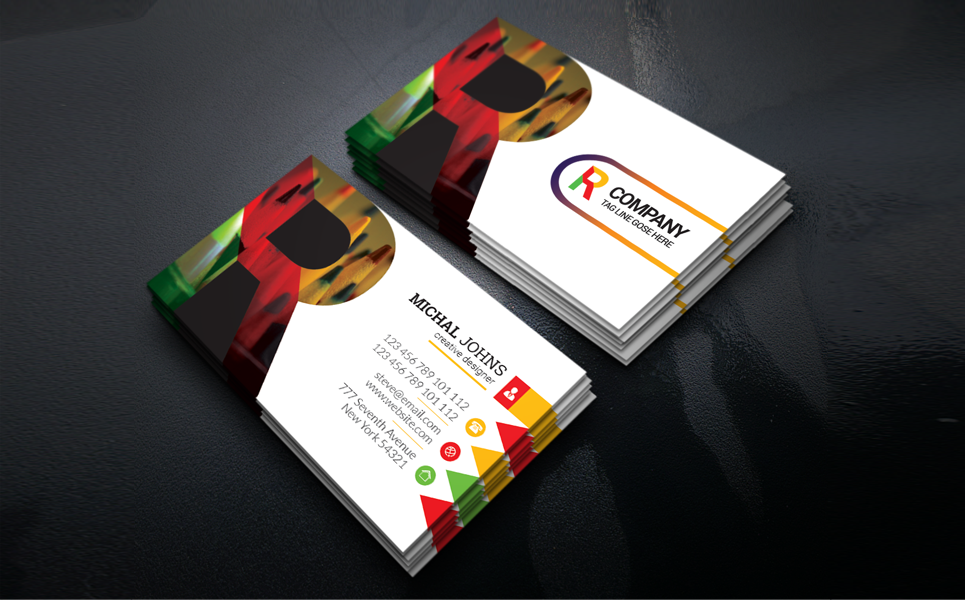 R Company Business Card Corporate Identity Template Business Cards Corporate Identity Company Business Cards Corporate Identity