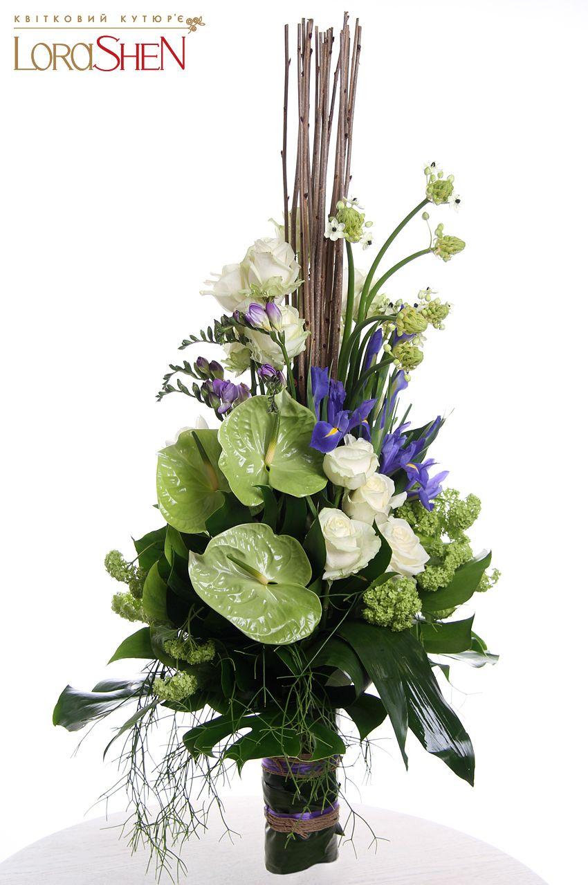 04161 Lorashen Anthurium Floral Arrangement