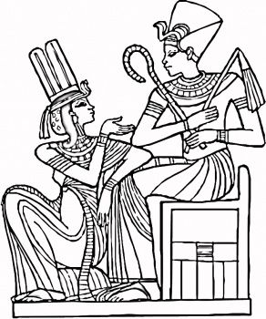 Egyptian Coloring Pages 3 Arte No Egito Desenhos Para Pintura
