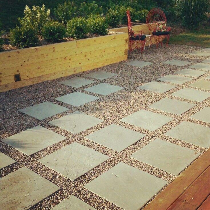 finshed patio. 2' x bluestone