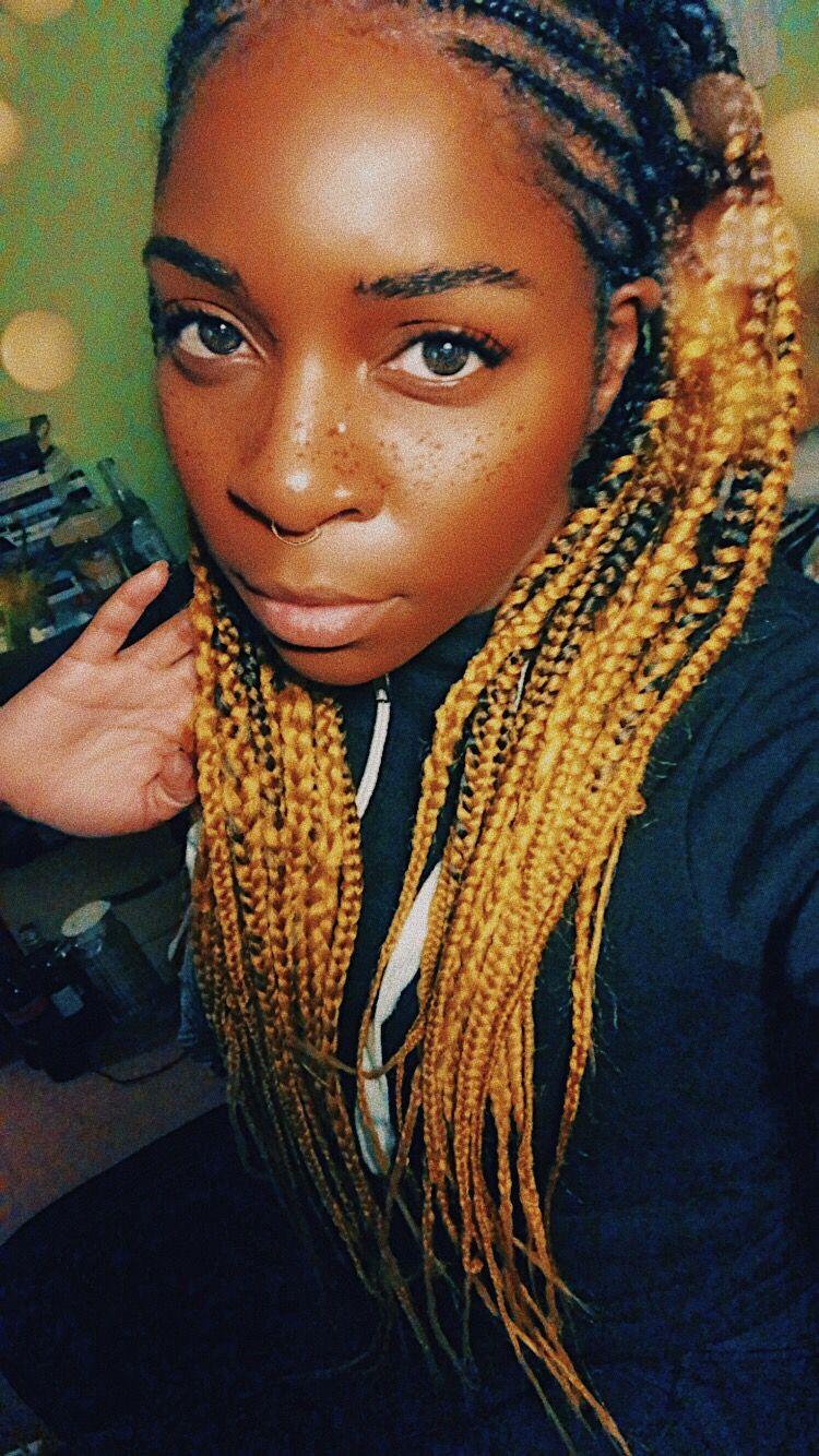 29++ Ombre box braids on dark skin ideas in 2021